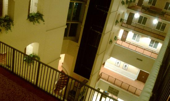 Embassy Suites by Hilton Tampa - Downtown Convention Center: Inside, looking down from my room.