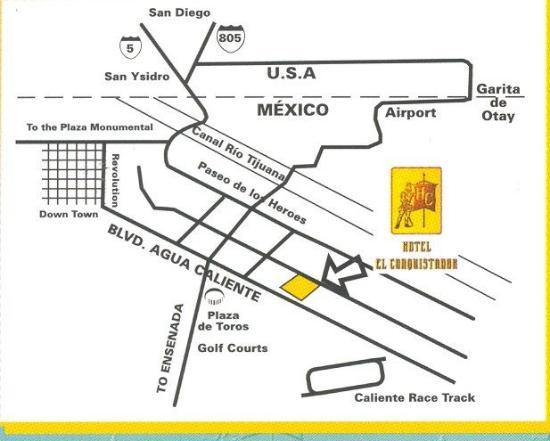 Hotel El Conquistador: Map