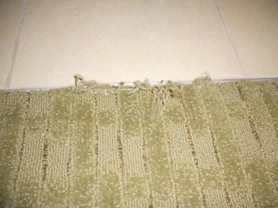 Hampton Inn & Suites Salem: Frayed carpet in new room