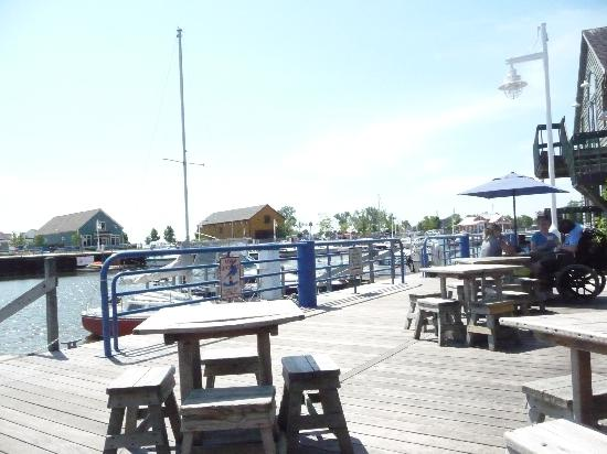 Weather Center Cafe: View from the Deck on the quayside.