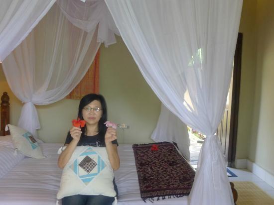 Subak Tabola Villa: nice mosquito net