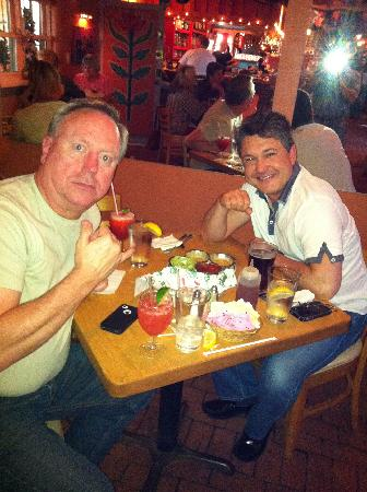 My friends Tom and Kris enjoying yet another La Choza meal :)