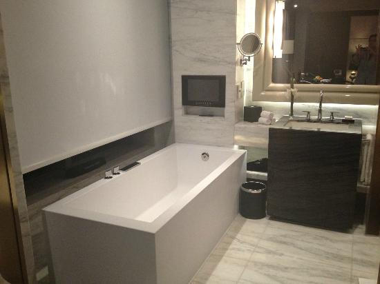 Open Bathroom Area With Large And