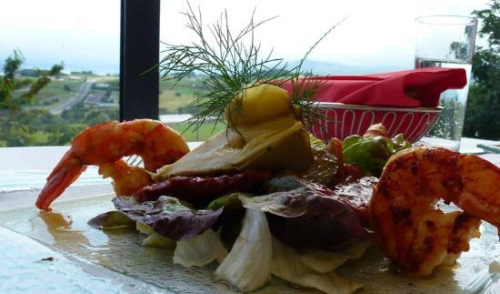 Landrestaurant Hanegg: Salat mit Kings Prawn