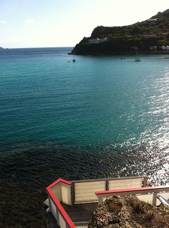 Eden Rock - St Barths:                   view from the greta Garbo suite