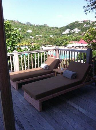 Eden Rock - St Barths:                   balcony