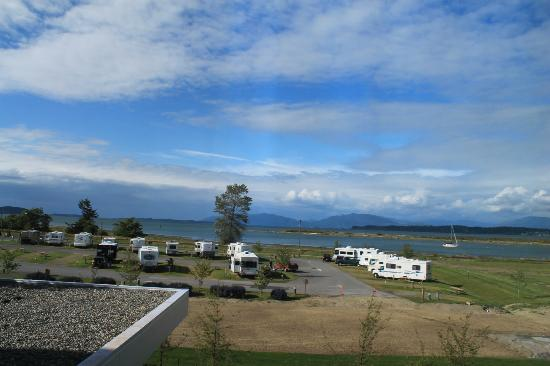 Swinomish Casino & Lodge: sweeping bay view ? More like sweeping RV parking view...