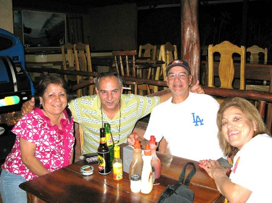 Kike's Place: Kike's Restauran, with Kike and all of us enjoying a meal
