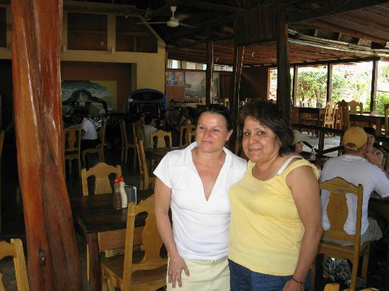 Kike's Place: Inside Kike's Restaurant/Bar , Kikes wife on our last day saying goodby