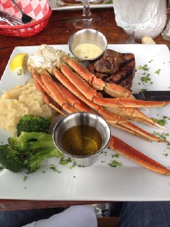 The Riverside Grille: steak & lobster