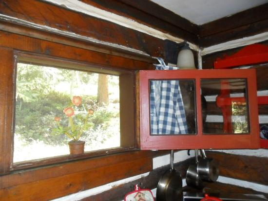 Pioneer Guest Cabins: kitchen window