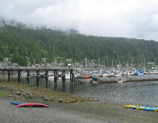 Deep Cove Kayak: Deep Cove Beach and Launch Area