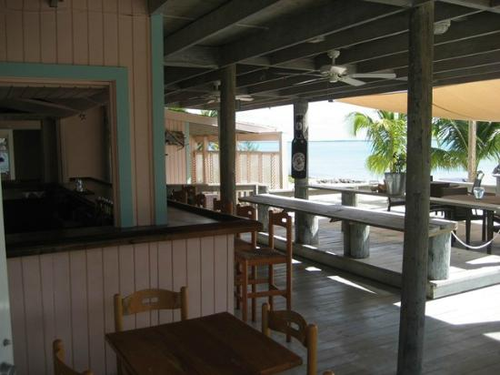 Pascal's at Cape Eleuthera: Pascal's bar and dining area covered but open to the breezes