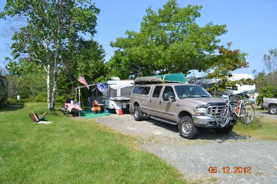 Bar Harbor Campground: Our Campsite