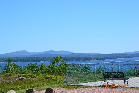 Bar Harbor Campground: View from ouur capsite