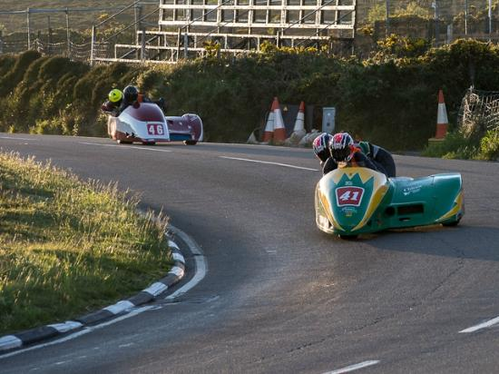 Creg-ny-baa: Side cars in front of the Creg