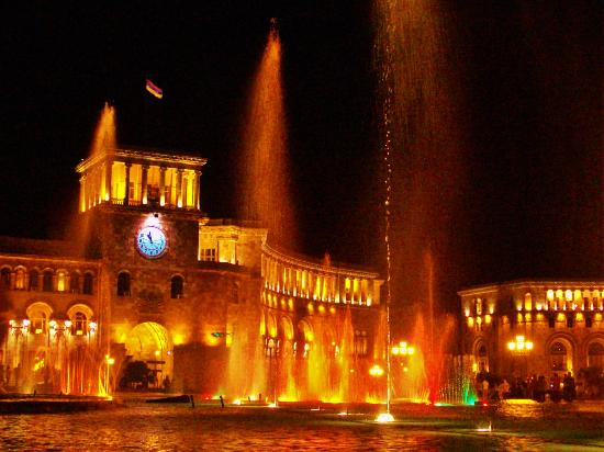 Republic Square : The light show at night. *Spectacular*