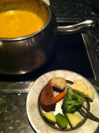 The Melting Pot: Cheddar cheese and veggies