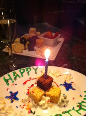 The Melting Pot: Champagne and extra complimentary desserts!