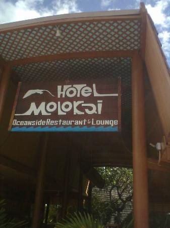 Kaunakakai, Χαβάη: hotel sign