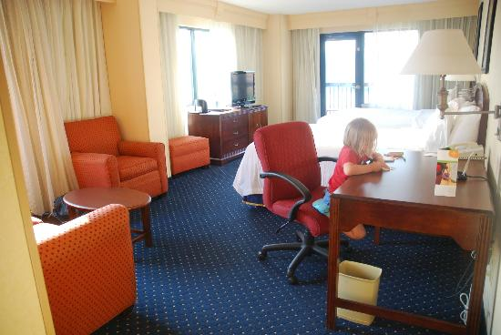 Courtyard by Marriott Chattanooga Downtown: Room 722 --- River and baseball stadium view