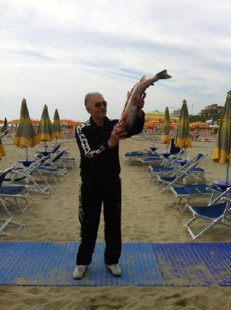 Hotel Bernard: mitico Joseph in spiaggia