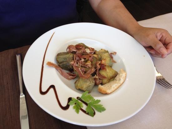 Casa Pardina: Alcachofas con jamon
