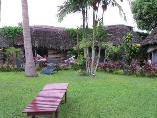 Samoan Outrigger Hotel: view from the dining area & pool