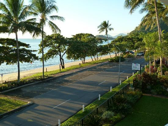 Beachfront Apartments on Trinity Beach: Early morning view of beach from apartment