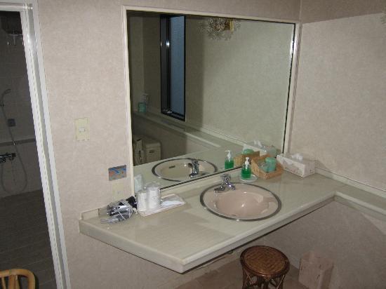 Royal Hotel Maruya: room 506 toilet table in separate room