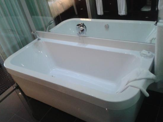 DaVinci Hotel and Suites: Large, roomy bath.