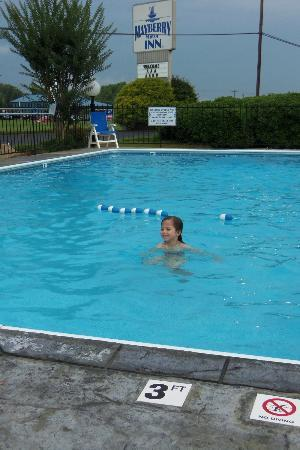 Mayberry Motor Inn: Nice size pool - clean and good temperature