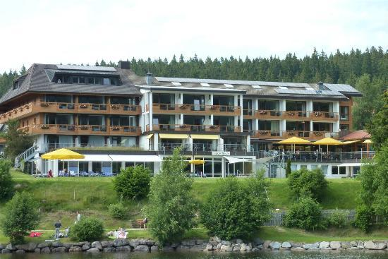 Seehotel Wiesler: Hotel from Lake Titisee