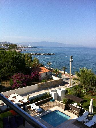 Veltur Turiya Hotel and Spa: Looking south towards Turgutreis from 2nd floor
