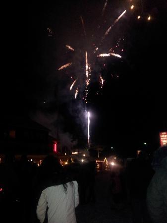 Hotel Hullu Poro (Crazy Reindeer): FIREWORKS ON LAST NIGHT!!!