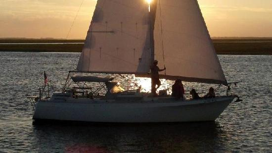 Captain Jack's Kiawah Sailing and Dolphin Watching: Sunset Sail with Dolphins