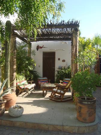 El Angel Azul Hacienda : bonita pergola - un lugar para descansar