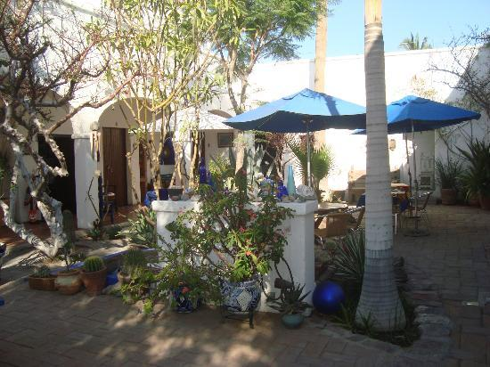 El Angel Azul Hacienda: el patio encantador