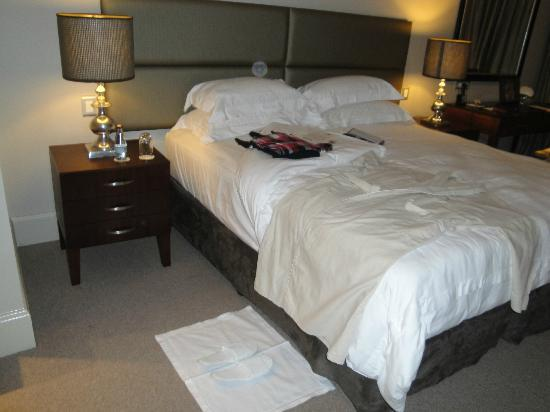 Upton Hall: turndown service at night