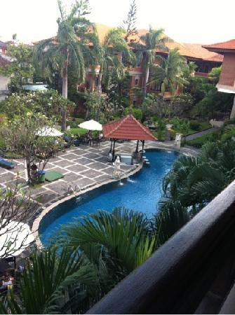 Adi Dharma Hotel: view from our room
