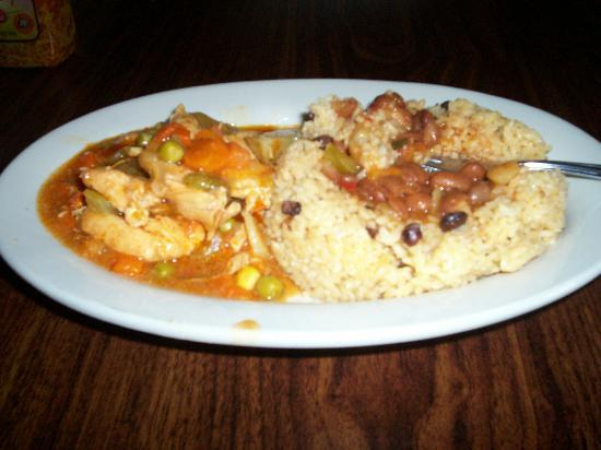 Westfield, MA: chicken stew with rice and beans