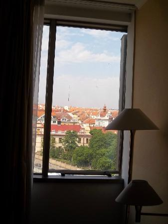 Parkhotel Praha: This was our air conditioning. The window opens up.