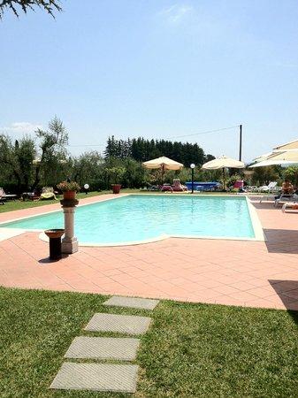 Agriturismo Villa de' Fiori: piscina bellissima con bar e circondata dal prato