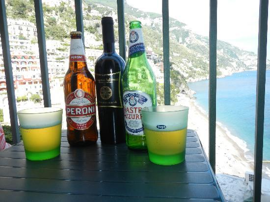 Casa Cosenza: Peroni, Wine, and Views from patio