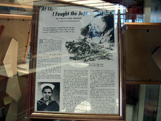 USS South Dakota Battleship Memorial: Story of guy that enlisted at age 12
