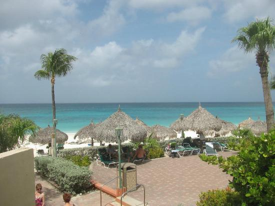 Aruba Beach Club: From balcony out to beach