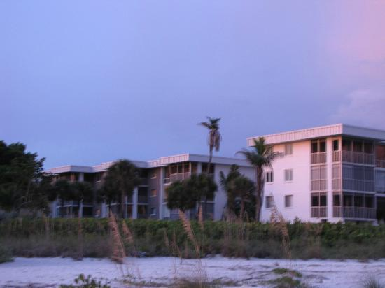 Island Beach Club from the beach- looking at West side