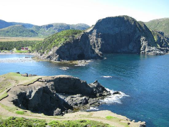 Captain Cook Bed & Breakfast - Cottages: View from the nearby Bottle Cove hiking trail