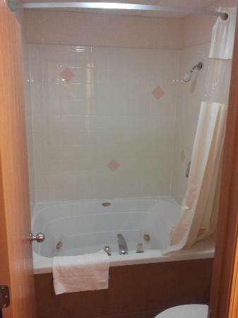 Americas Best Value Inn - Ludington: I was surprised to find a tub with jets.