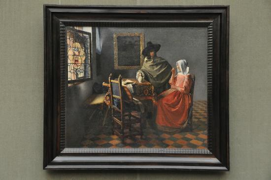 Gemäldegalerie: Vermeer - Herr und Dame beim Wein, um 1658 - 60